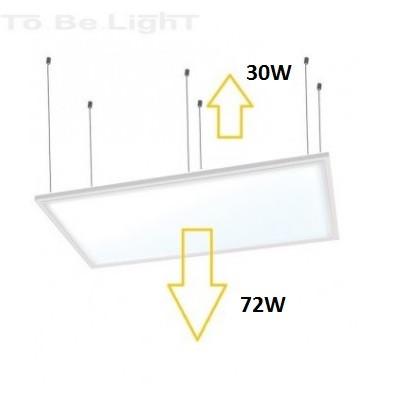 dalle led u2 clairage direct et indirect 6000k 60x120. Black Bedroom Furniture Sets. Home Design Ideas