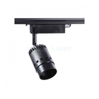 Spot LED Cannon pour Rail Triphasé 20W Noir