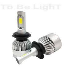 Pack 2 Ampoules LED COB voiture moto 20W H3 H7