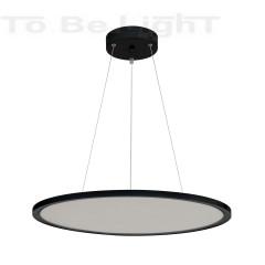 Dalle LED Ronde 60 cm Noire - 3400 lm
