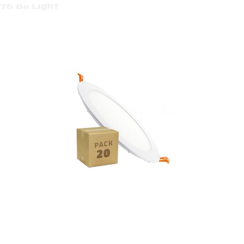 Pack 20 x Dalle LED Encastrable 18W / 22,5 CM