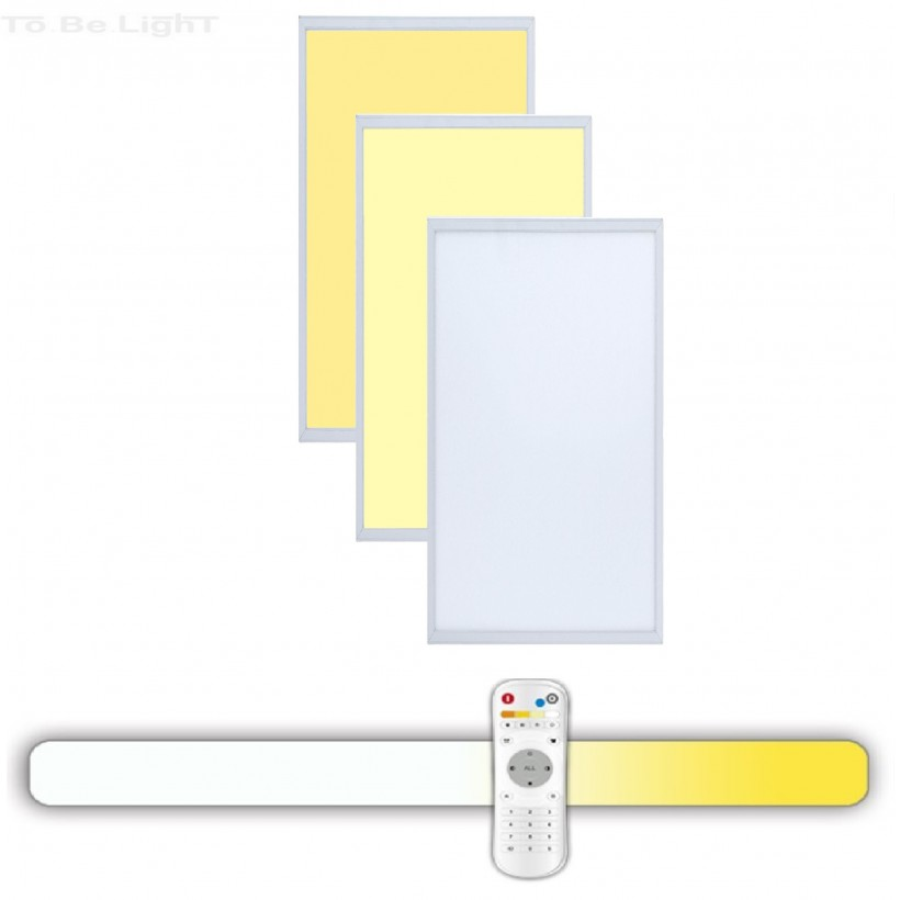 Dalle LED 30x60  3en1 + Télécommande Radio