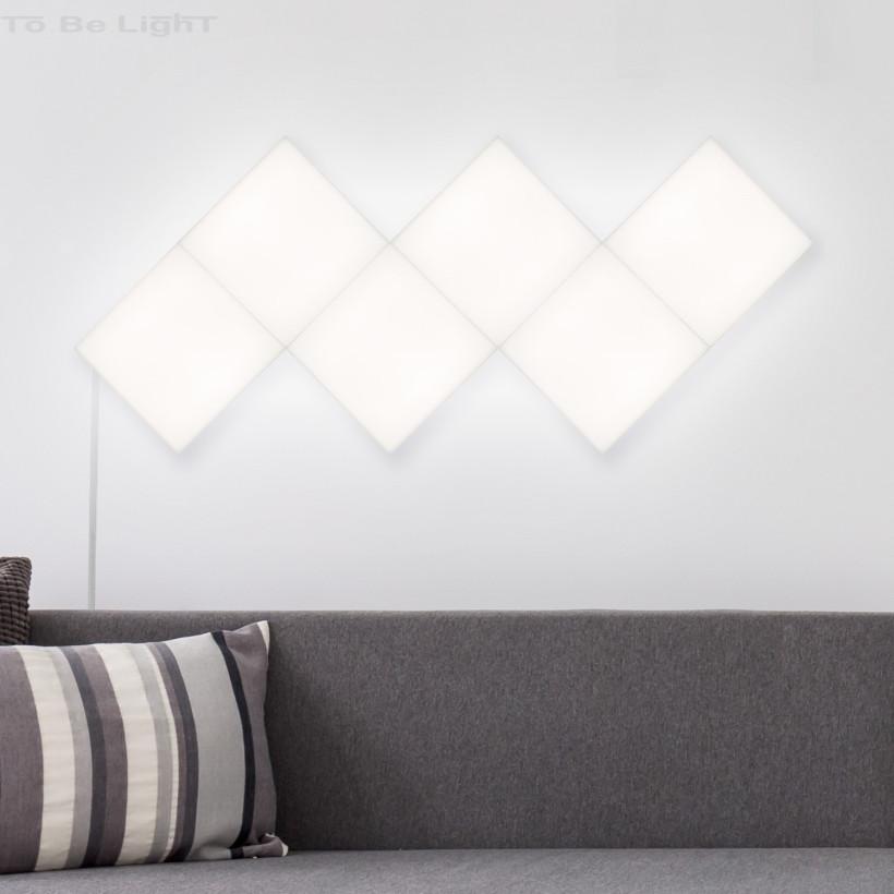 Panneau LED Carré 15x15cm 200 lm Base Principale