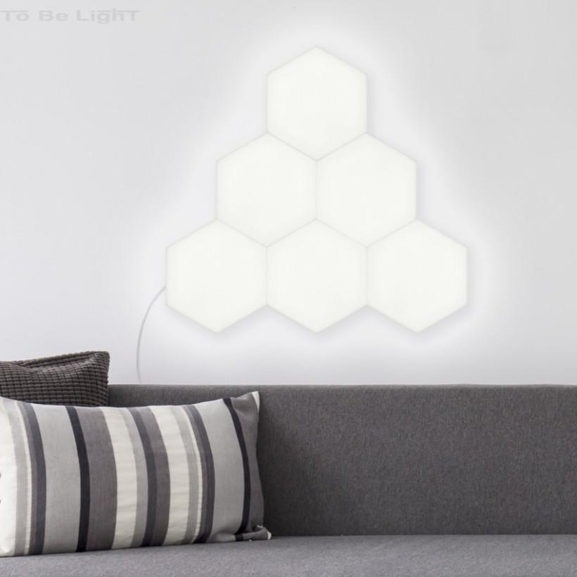 Panneau LED Hexagonal 18x18cm 800 lm Base Principale