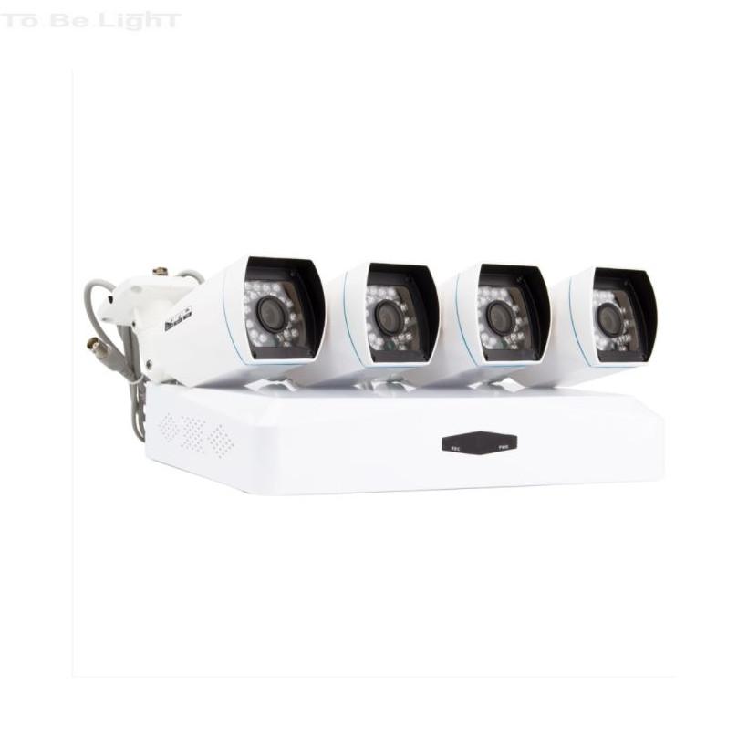 Kit de 4 Caméras CCTV Bullet AHD & Enregistreur DVR