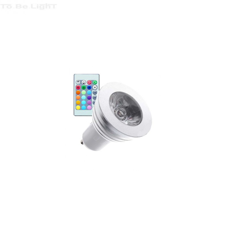 Spot LED RVB E27 E14 GU10 + télécommande
