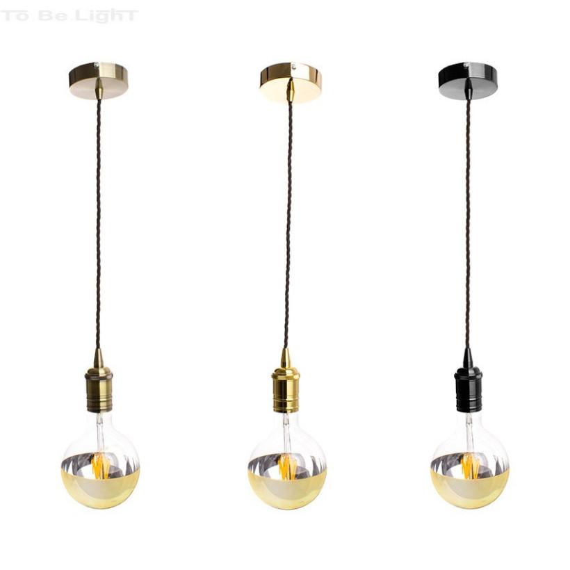 Lampe suspendue Retro Bronze / Or /  Noir