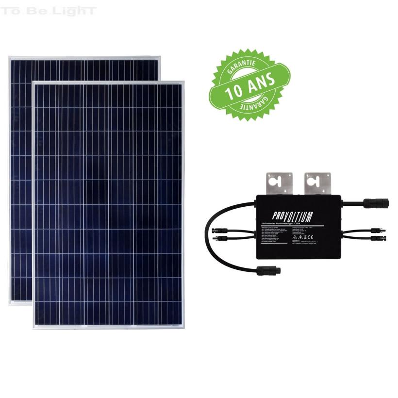 Pack 2 x Panneaux Solaire Photovoltaïque Polycristallin 275W Class A + Onduleur 500W
