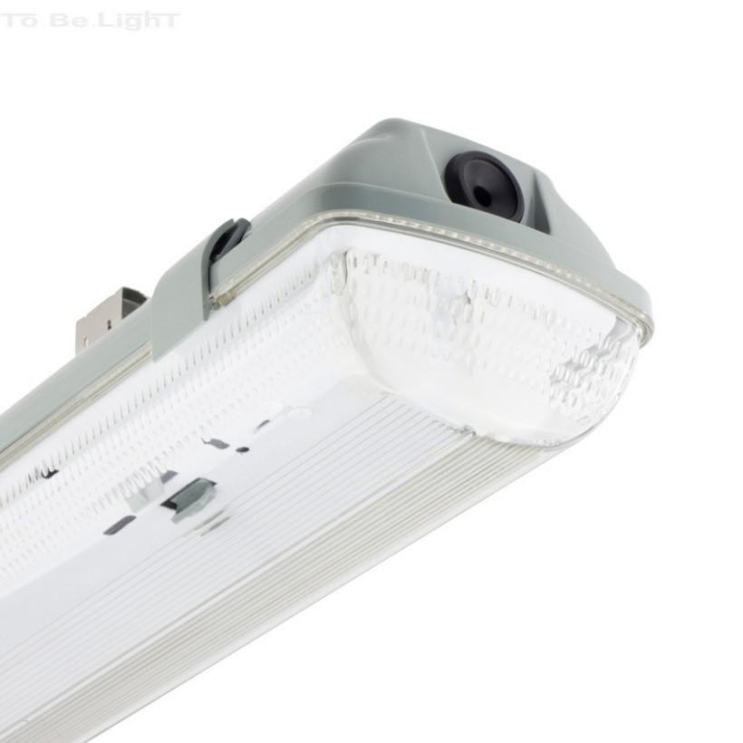 Réglette étanche pour 2 Tubes LED 600 mm