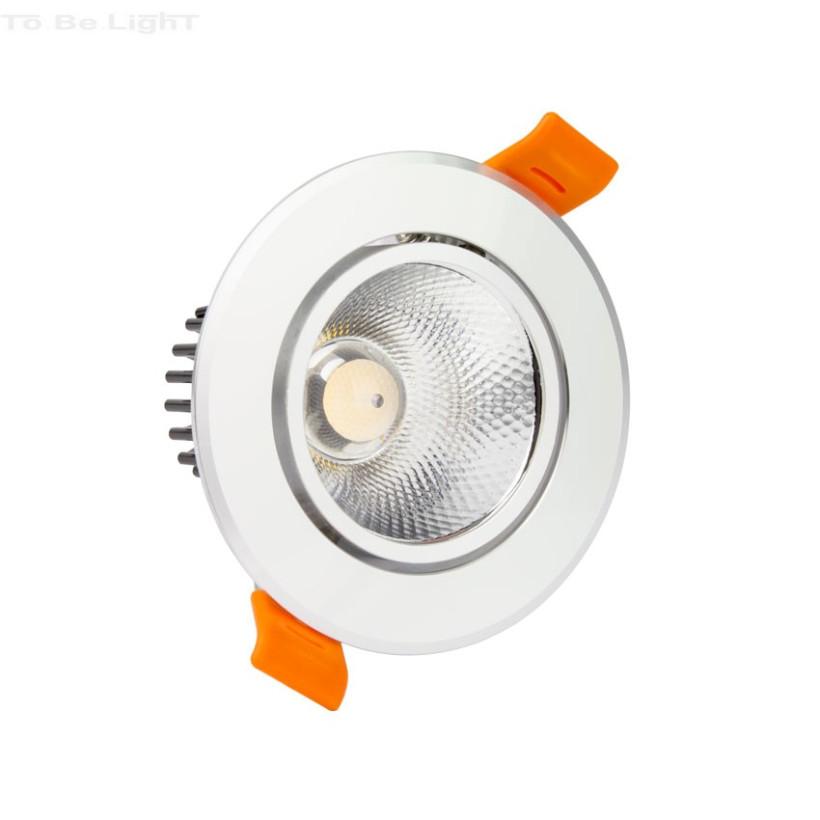 Spot LED COB 5W Orientable Argenté