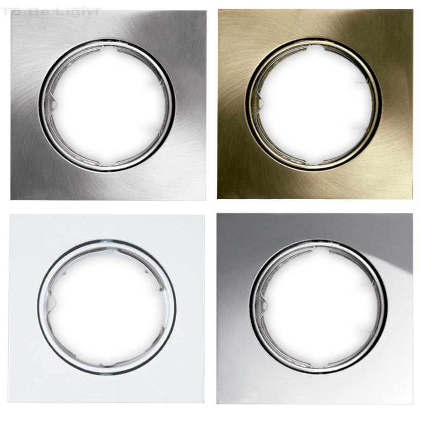 Support carré encastrable orientable pour spot LED