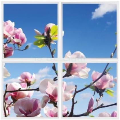 Pack 4 x Dalles LED OASIS 60x60  #magnolia