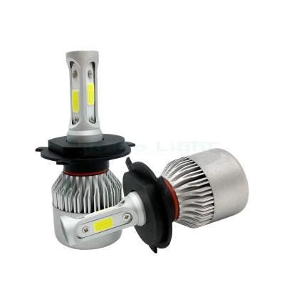 Pack 2 Ampoules LED COB voiture moto 20W H4