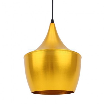 Lampe suspendue Industrielle Phi Or
