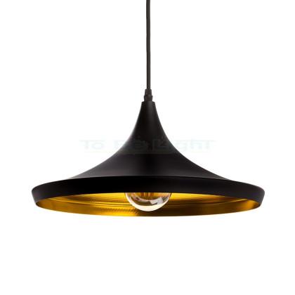 Lampe suspendue Industrielle Omega Noir