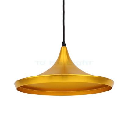 Lampe suspendue Industrielle Omega Or