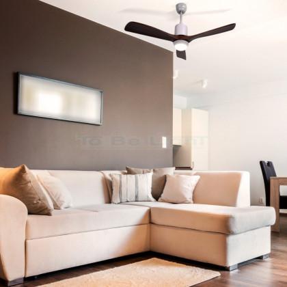 Ventilateur de Plafond LED Forest avec CCT Sélectionnable 70W Bois
