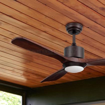 Ventilateur de Plafond LED Forest avec CCT Sélectionnable 15W Bois