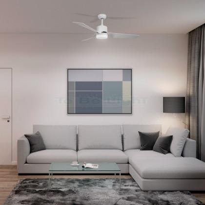 Ventilateur de Plafond LED Minimal PRO Silencieux avec CCT Sélectionnable 15W Blanc