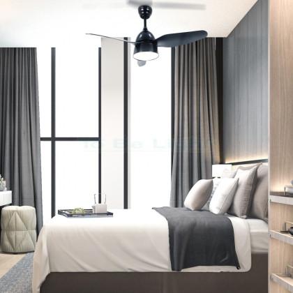 Ventilateur de Plafond LED New Industrial CCT Seleccionable 65W Noir