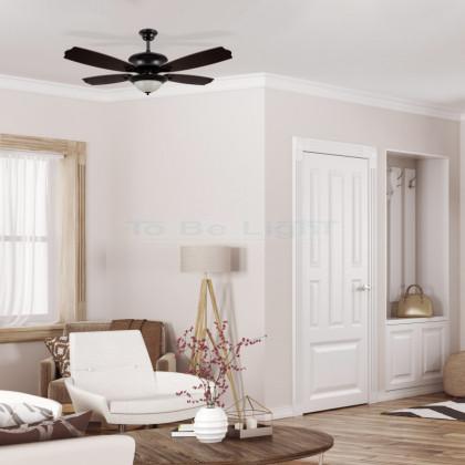 Ventilateur de Plafond LED Vintage avec CCT Sélectionnable 20W Noir