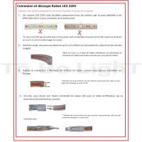 guide installation ruban led 220v