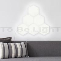 Panneau LED Hexagonal 18x18cm 800 lm Extension