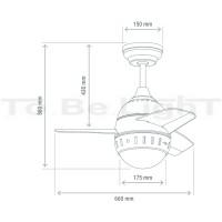 Ventilateur de Plafond LED Modern 7W Noir