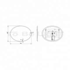 Miroir Décoratif LED Hawai 45W