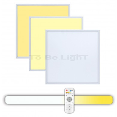 Dalle LED 60x60  3en1 + Télécommande Radio