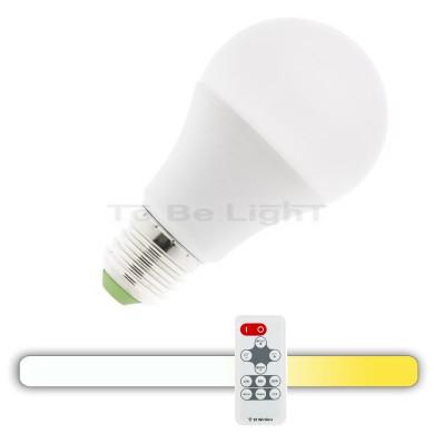 Ampoule LED E27 9W / 3en1 + Télécommande RF