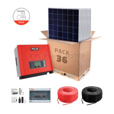 Pack 10 000 W Panneaux Solaire Photovoltaïque + Branchement Réseau Triphasé