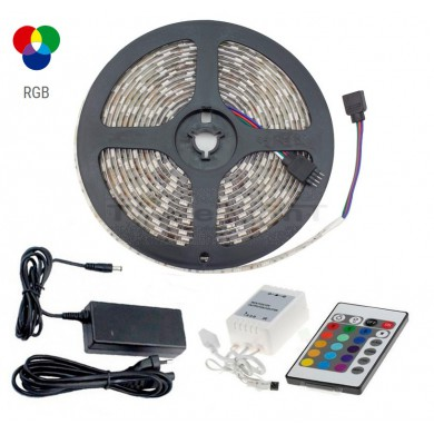 Kit 5m Ruban LED RGB IP65 48W